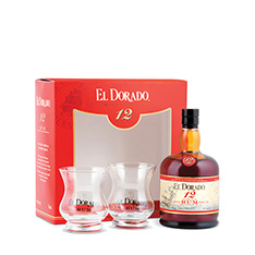 EL DORADO 12 YEAR OLD GIFT PACK WITH 2 GLASSES