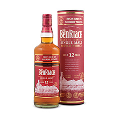 THE BENRIACH MATURED IN SHERRY WOOD 12 YEARS OLD SPEYSIDE SINGLE MALT