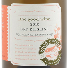 THE GOOD EARTH DRY RIESLING 2010