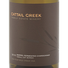 CATTAIL CREEK SMALL LOT SERIES BARREL FERMENTED CHARDONNAY 2012