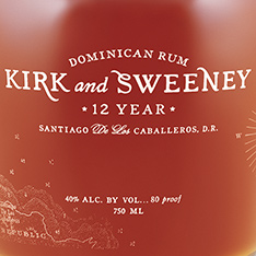 KIRK AND SWEENEY 12 YEARS OLD DOMINICAN RUM