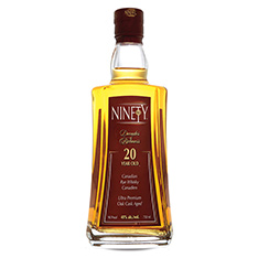 NINETY CANADIAN RYE WHISKY 20 YEAR OLD