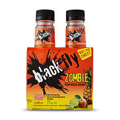 BLACK FLY ZOMBIE RUM MIXED DRINK 4X400ML