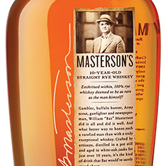 MASTERSONS 10 YEARS OLD STRAIGHT RYE WHISKEY